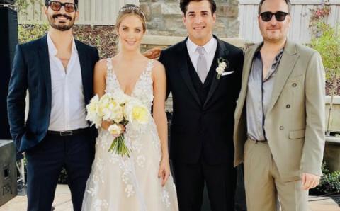 Como canción romántica de Reik, así la boda de Julio tras 6 años de relación con su novia